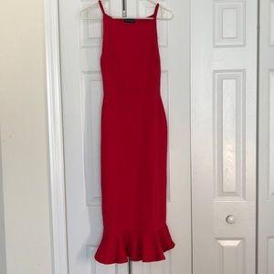 Pretty Little Thing Red scuba dress